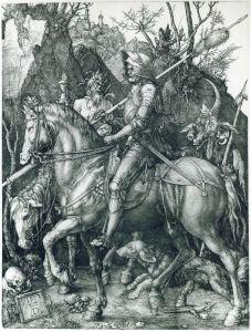 Albrecht Dürer - Le chevalier, la mort et le diable (1513)