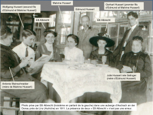 Famille de Husserl à table