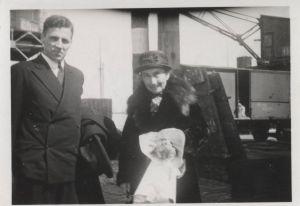 Malvine Husserl et Van Breda en 1946 peu avant le départ de Malvine pour les USA