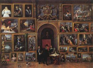 Teniers 1 - Archiduc Leopold Wilhelm d'Autriche dans sa galerie (1651)